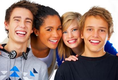 Groupe d'ado au Cabinet d'Orthodontie du docteur DAYEZ, à Brignoles