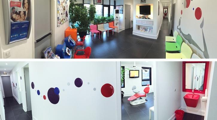 Salle d'attente enfant et couloir du Cabinet d'Orthodontie du docteur DAYEZ, à Brignoles